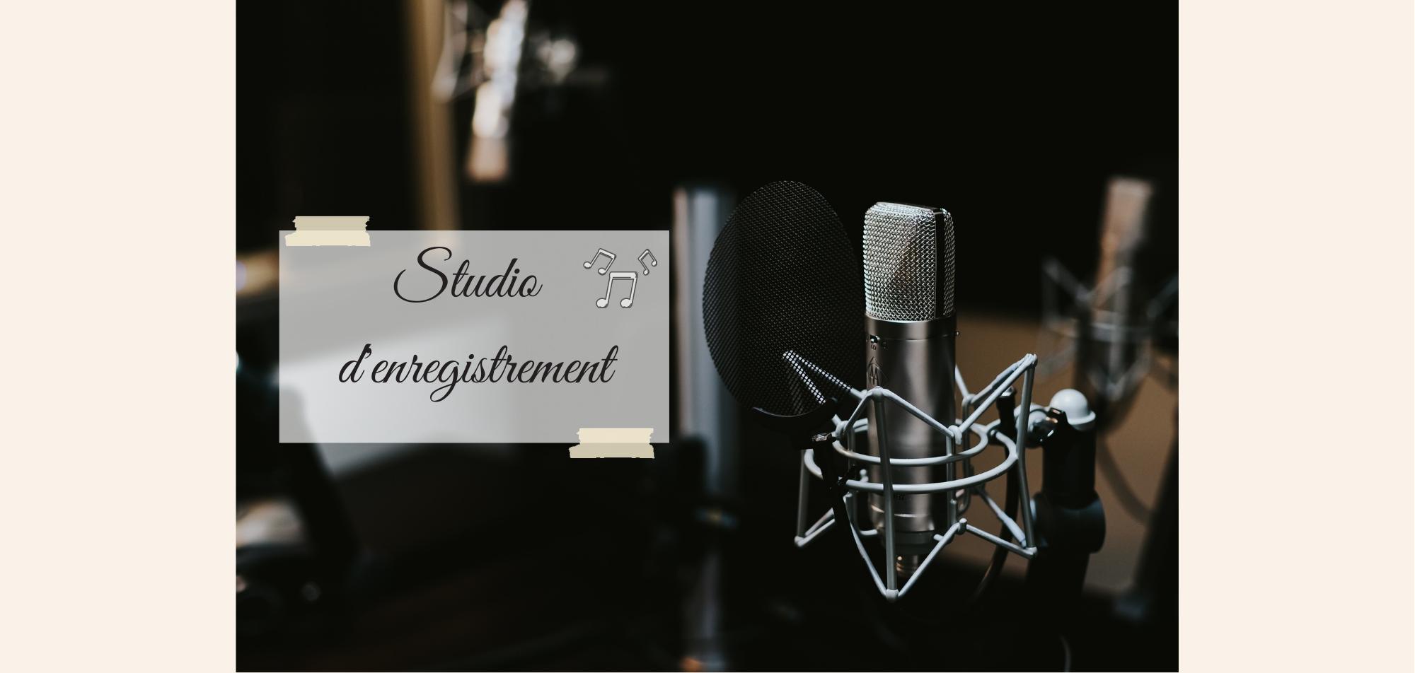 Studio d'enregistrement, micro