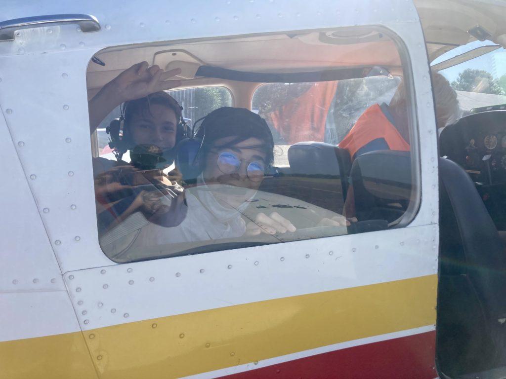 Baptême de l'air - dans l'avion