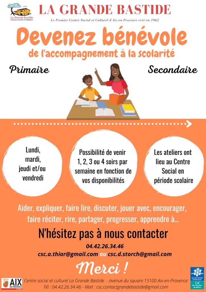 Recherche de bénévole pour le soutien scolaire primaire et secondaire